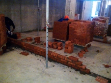 Lucrările la construcția clinicii